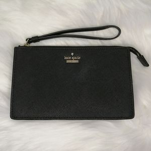 Kate Spade Phone Wristlet Black Leila Clutch
